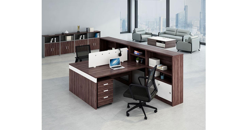 二人位办公桌-屏风办公桌-品源办公桌