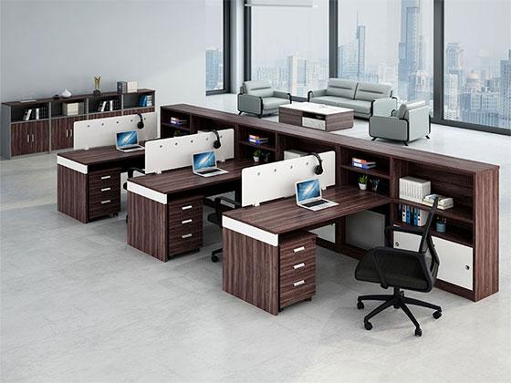 2人职员办公桌-屏风办公桌-品源办公桌