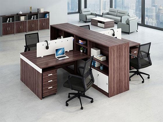2人职员办公桌-隔断办公桌-品源办公桌