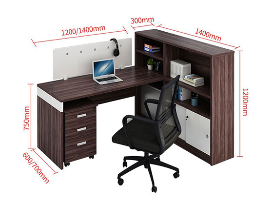 办公桌二人组尺寸-屏风办公桌-品源办公桌