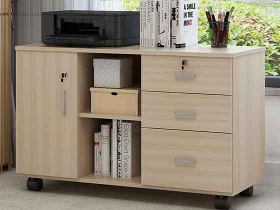 员工桌带书柜-办公室文件柜-品源文件柜