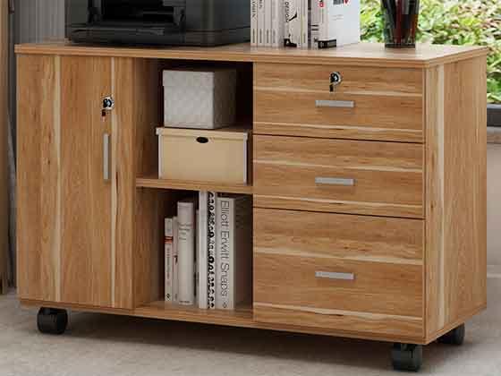员工桌带书柜—-定制衣柜厂家-品源文件柜