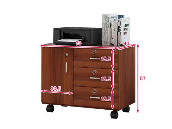 员工位带侧柜尺寸-办公室文件柜-品源文件柜