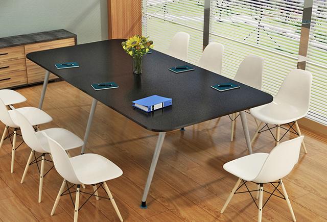椭圆形会议桌 时尚小型洽谈桌椅 WBHYZ029
