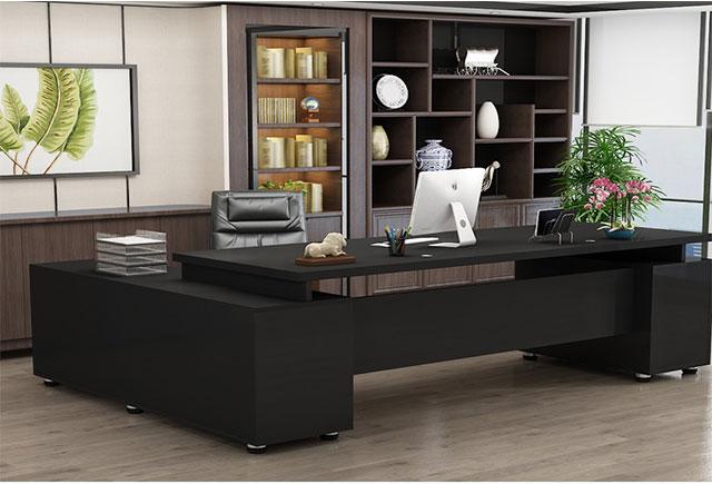 现代总经理办公桌_现代总裁办公室桌_现代简约老板办公桌