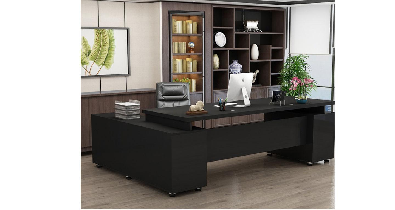 现代总经理办公桌-屏风办公桌-品源办公桌