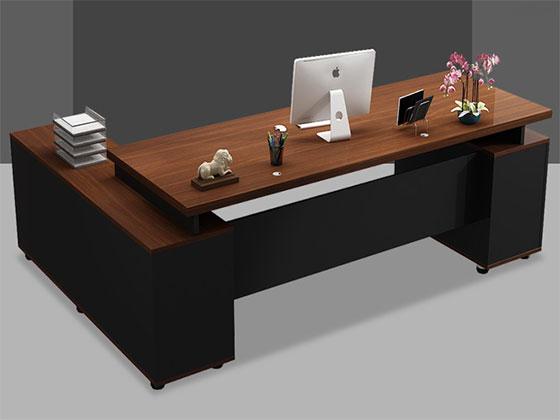 现代总裁办公室桌-屏风办公桌-品源办公桌