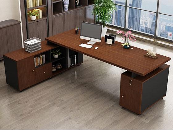现代简约老板办公桌-屏风式办公桌-品源办公桌