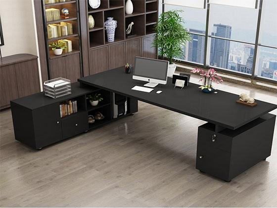 现代总经理办公桌-隔断办公桌-品源办公桌