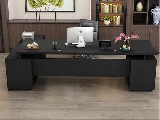 现代总裁办公室桌-隔断式办公桌-品源办公桌