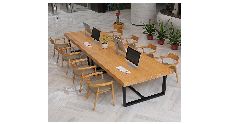 实木拼接会议桌-会议桌-品源会议桌