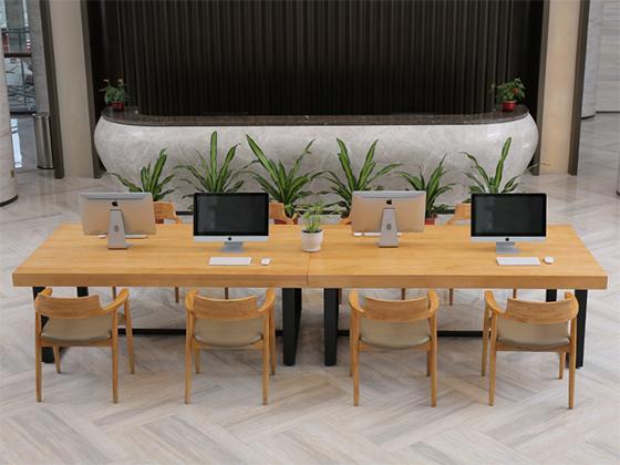 10人贴皮会议桌-办公室会议桌-品源办公室会议桌
