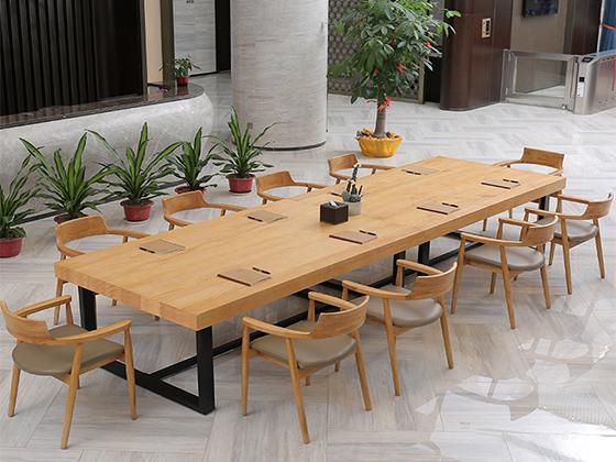 实木拼接会议桌-会议桌尺寸-品源会议桌