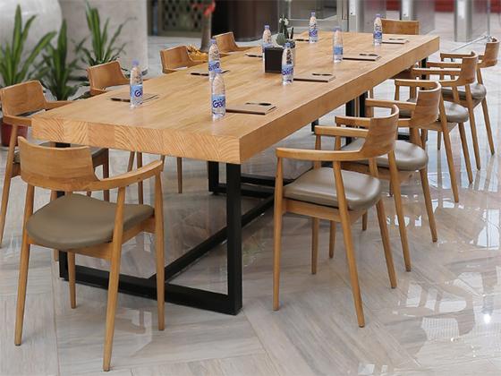 10人贴皮会议桌-会议桌定制-品源会议桌