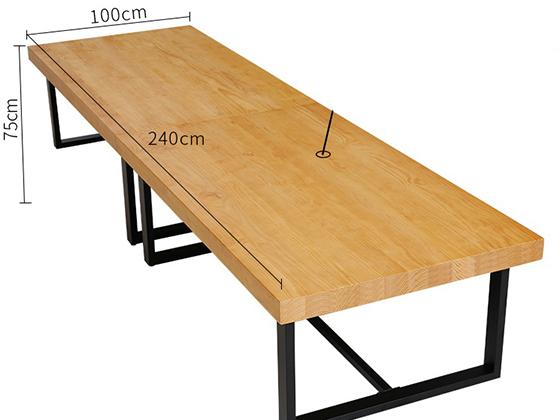 10人贴皮会议桌尺寸-会议桌-品源会议桌