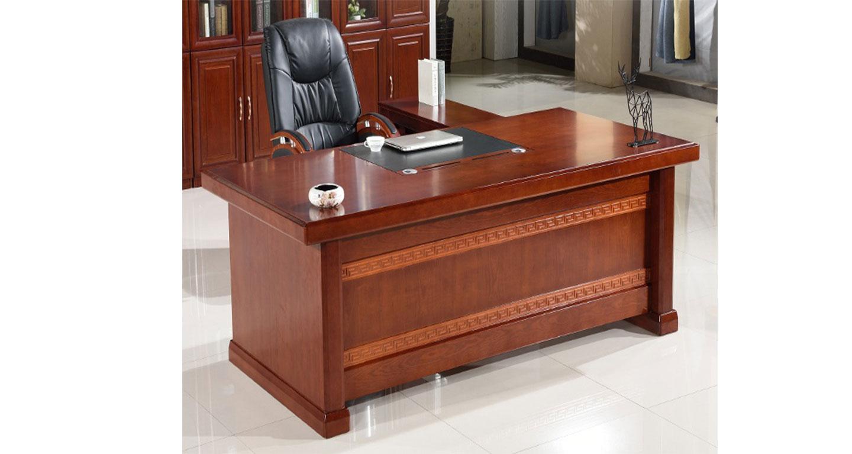 实木大班台-屏风式办公桌-品源办公桌