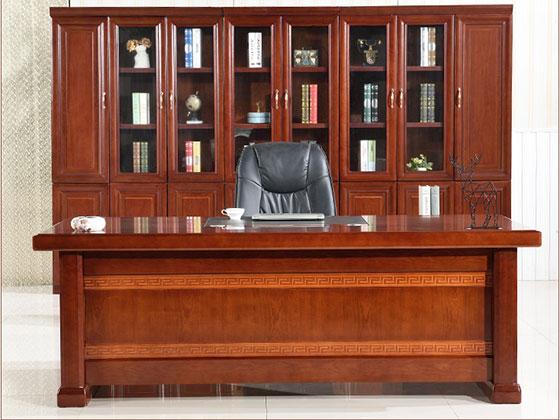 实木大班台老板桌-屏风办公桌-品源办公桌
