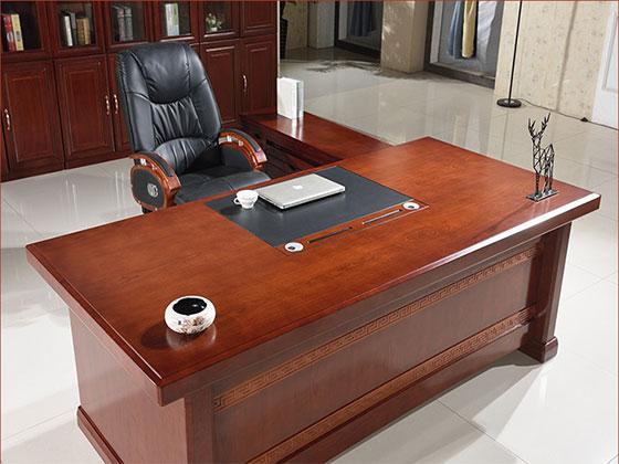 实木办公大班台-屏风式办公桌-品源办公桌