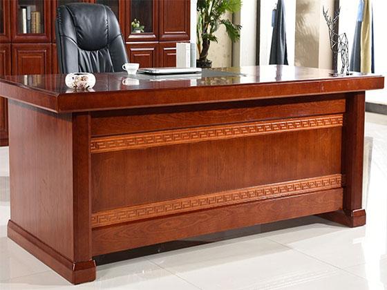 实木大班台老板桌-隔断办公桌-品源办公桌