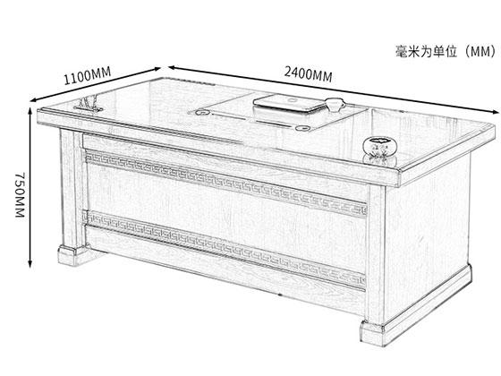 实木办公大班台尺寸-屏风办公桌-品源办公桌