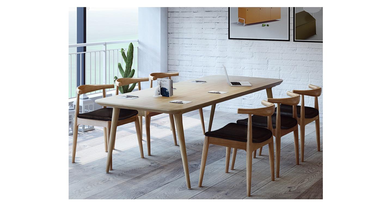 实木贴皮会议桌-会议桌-品源会议桌