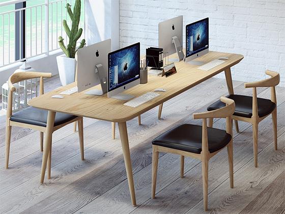 北欧简约书桌-办公室会议桌-品源办公室会议桌