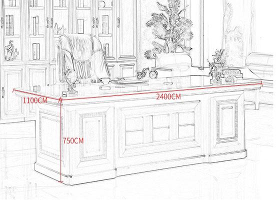 老总办公桌尺寸尺寸-屏风办公桌-品源办公桌