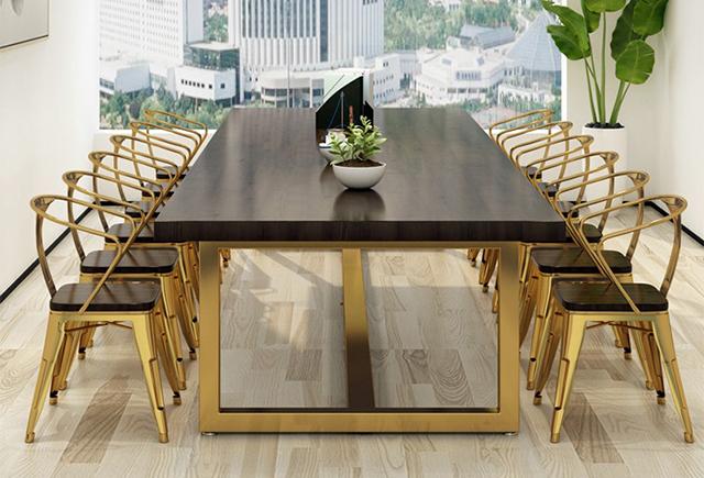 豪华的全实木的办公会议桌_豪华油漆会议桌