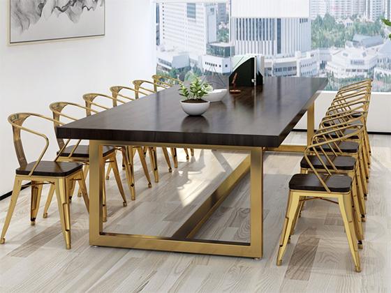 豪华的全实木的办公会议桌-会议桌尺寸-品源会议桌