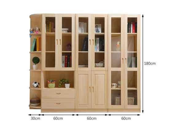 总经理实木文件柜尺寸-办公室文件柜-品源文件柜