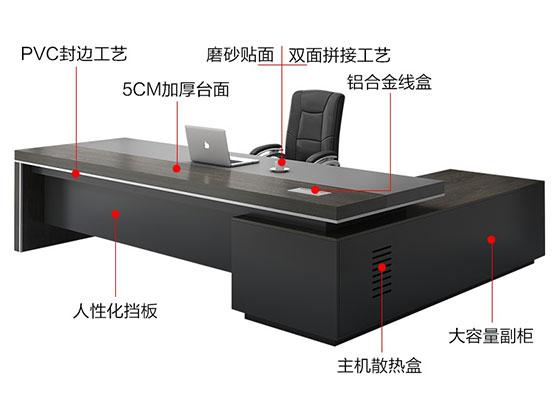 公司老总办公桌-隔断式办公桌-品源办公桌