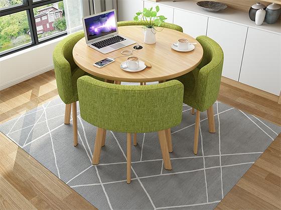 板式圆形洽谈桌-办公室洽谈桌-品源办公室洽谈桌