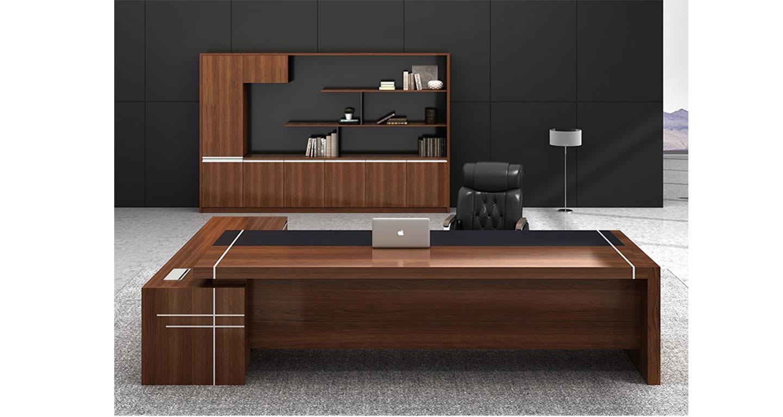 实木总裁办公桌-屏风办公桌-品源办公桌