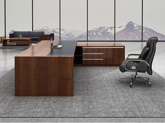 总裁办公室桌子尺寸-隔断办公桌-品源办公桌