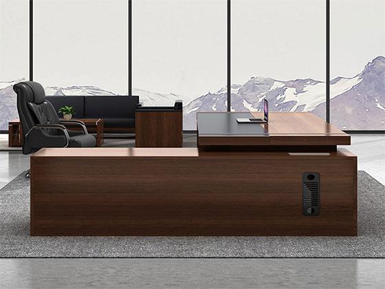 实木总裁办公桌-隔断式办公桌-品源办公桌