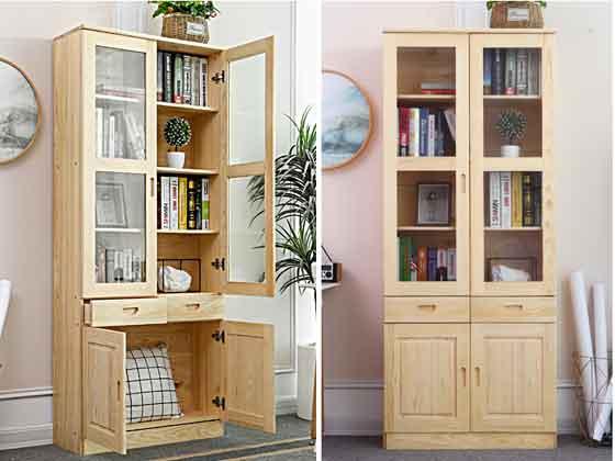 总裁办公室书柜-定制衣柜厂家-品源文件柜