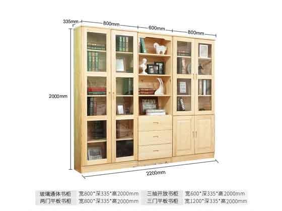 总裁书柜定制尺寸-办公室文件柜-品源文件柜