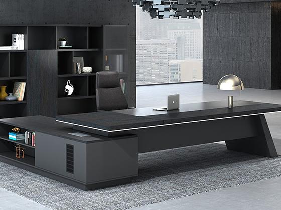 高档老板台办公桌-班台尺寸-品源班台