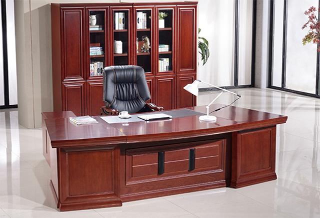 新中式老板桌-�F代�裁桌大班�_-