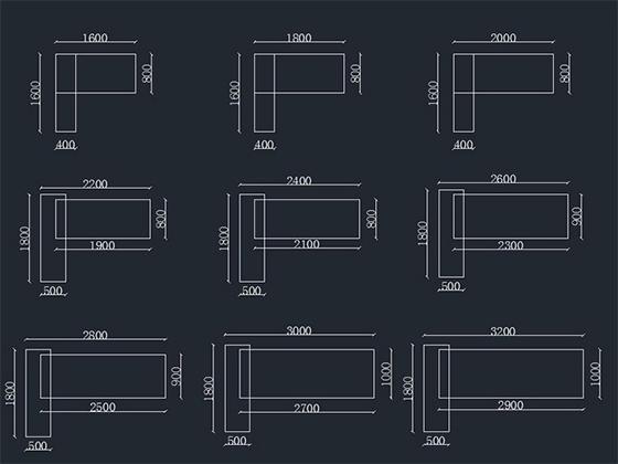 实木老板桌办公桌尺寸-班台-品源班台