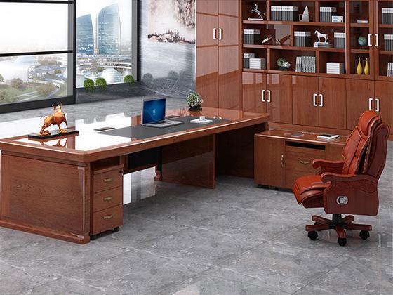 新中式老板桌-办公室班台-品源办公室班台