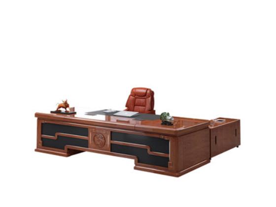 新中式老板桌-班台定制-品源班台