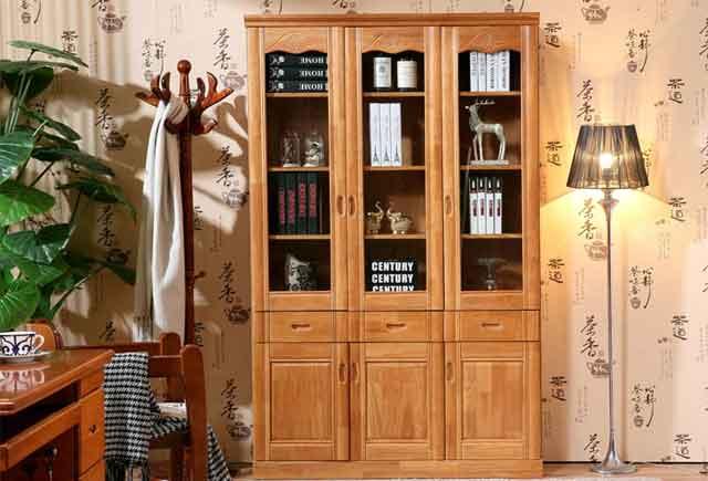 中式老板桌后面的书柜_中式风格的老板办公桌椅书柜定制