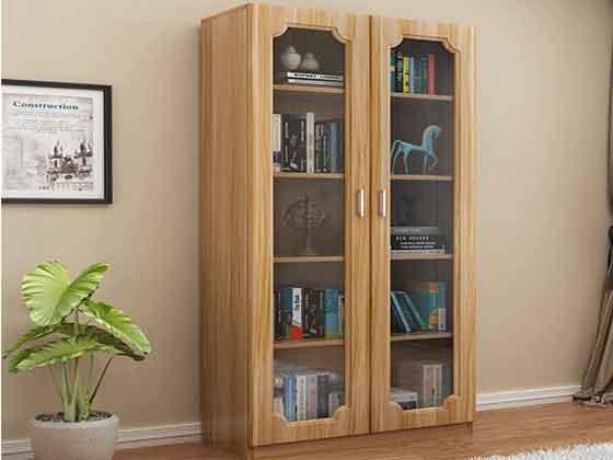 老板办公室带玻璃书柜-文件柜定制-品源文件柜