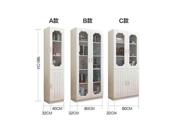 老板办公室带玻璃书柜尺寸-办公室文件柜-品源文件柜