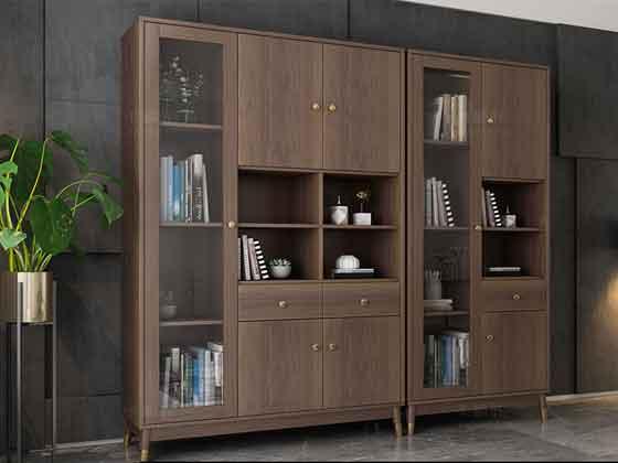 董事长办公室书柜定制-办公室文件柜-品源文件柜