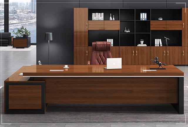 老板办公桌-开放办公桌-实木大班台