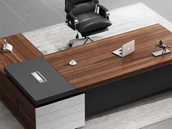 大型组合老板桌-办公室班台-品源办公室班台