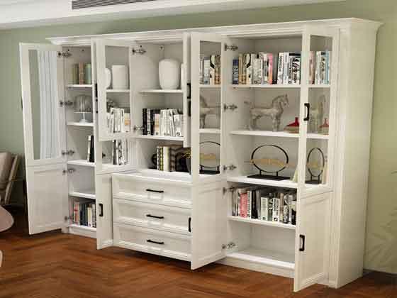 领导办公室书柜-定制衣柜厂家-品源文件柜
