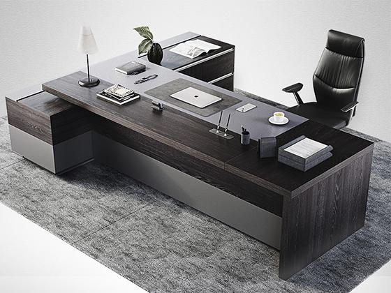 董事长办公室办公桌-办公室班台-品源办公室班台
